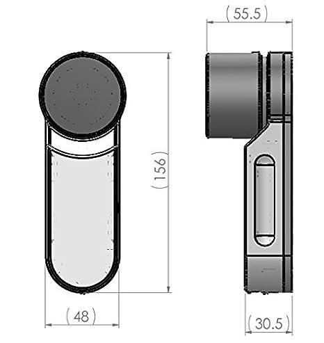Yale ENTRTM electrónico para puerta con mando a distancia Set electrónica-unidad + 1 cargador + 2 mandos a distancia + mobile App + juego de cilindro de ...