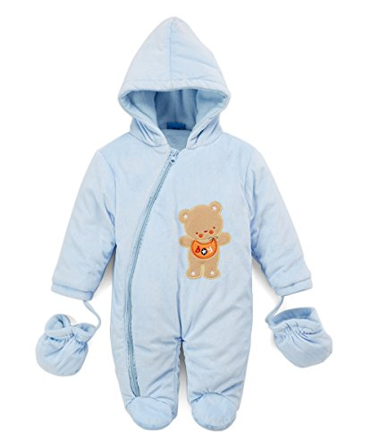 Sweet & Soft Velour Padded Snow Suit Bear (12 Months) -