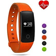 GBlife Fitness Tracker Watch,Heart Rate Monitor Bluetooth Smart Wristband Sport Bracelet for Android & iOS
