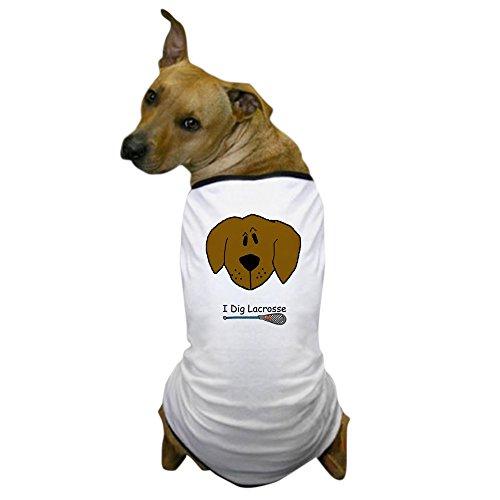 CafePress - I Dig Lacrosse Dog T-Shirt - Dog T-Shirt, Pet Clothing, Funny Dog Costume by CafePress