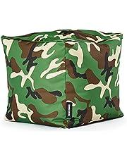 Green Bean © Cozy Beanbag, gaming-zitzak, 80 x 70 x 90 cm, vulling van 230 liter, vulling van EPS parels, indoor gamingstoel & outdoor gamer-zitkussen, Bean Bag loungestoel voor kinderen en volwassenen
