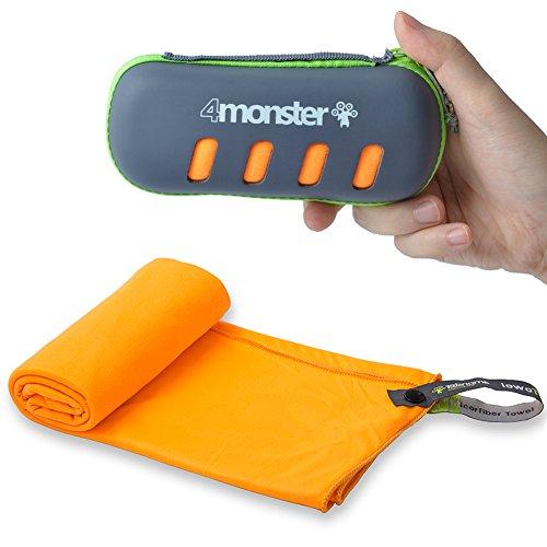 4MONSTER Microfiber Towel, Travel Towel, Camping Towel,Medium