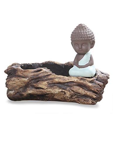 Dahlia Buddha Handmade Concrete Driftwood Succulent Planter/ Plant Pot/ Flower Pot/ Bonsai Pot, #1
