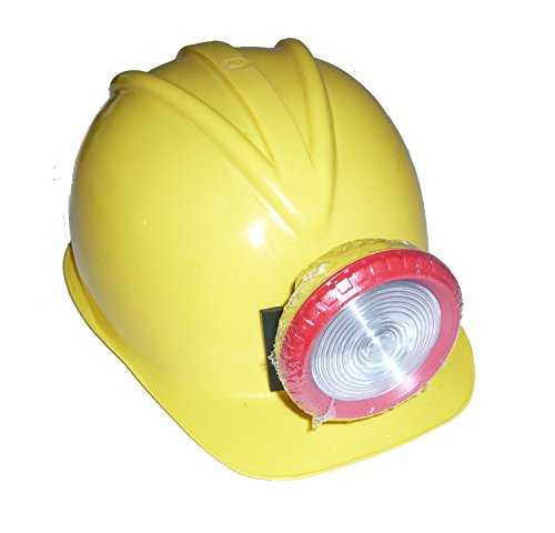 J17397 Costume Miners Hard Hat With (Children's Costume Yellow Hard Hat With Working Miner Light)