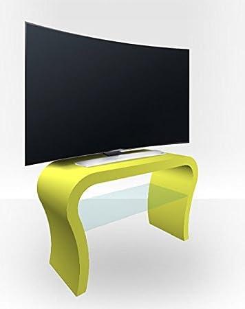 Amazon Com Zespoke Curved Tv Stand Lime Green Matt Kitchen Dining