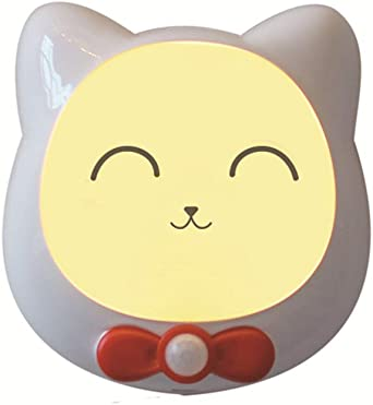 Cat Pattern LED Night Light Kids PIR Recargable Sensor De Movimiento Baby Night Lights Para Dormitorio, Pasillo, Cocina, Baño, Escaleras,C: Amazon.es: Iluminación