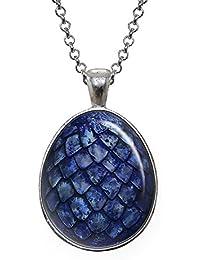 Blue Dragon Egg Pendant, Game of Thrones Necklace, Geek Jewelry, Girl Gift, Birthday Gifts, khaleesi, Daenerys Targaryen