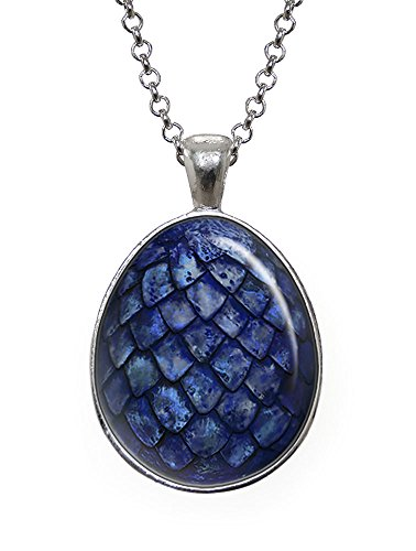 Blue Dragon Egg Pendant, Game of Thrones Necklace, Geek Jewelry, Girl Gift, Birthday Gifts, khaleesi, Daenerys (Dragon Girl Game Of Thrones)