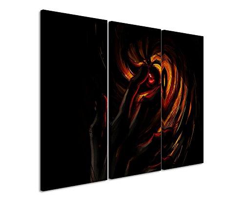 Lienzo impresión sobre lienzo juego de 3 Total 120) Naruto Shippuden Obito máscara de impresión Fine Art sobre lienzo real como un mural decorativo en ...