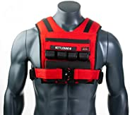 Weight-Vest Fitness Adjustable Weight Vest Crossfit - Range 35lbs Fitness Weight with Removable Weights Includ