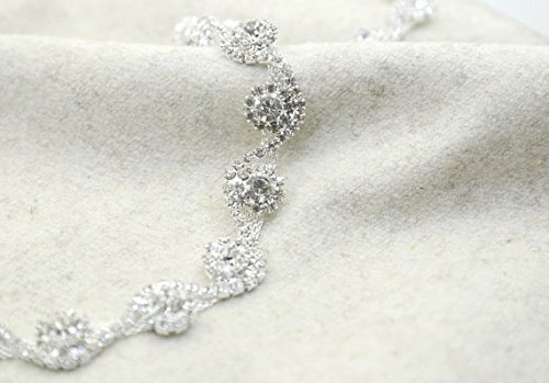 0.5'' S Shape Crystal Rhinestone Chain Trim, Rhinestone Headband,wedding Belt, Bridal Sash, Rhinestone Necklace,crystal Bracelet-1 Yard by ShiDianYi