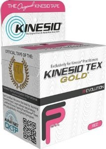 Kinesio Tex Gold Wave, Latex-Free, Water-Resistant - Red/Pink, 2