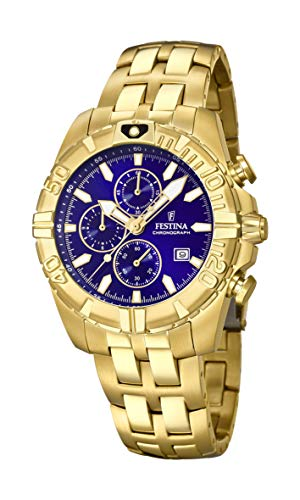 Men's Watch Festina - F20356/3 - Chronograph - Date - Gold-Plated and Navy Blue