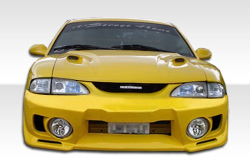 1994-1998 Ford Mustang Duraflex Evo 5 Body Kit - 4 Piece - Includes Evo 5 Front Bumper Cover (101428) Vader Rear Bumper Cover (101441) Vader Side Skirts Rocker Panels ()