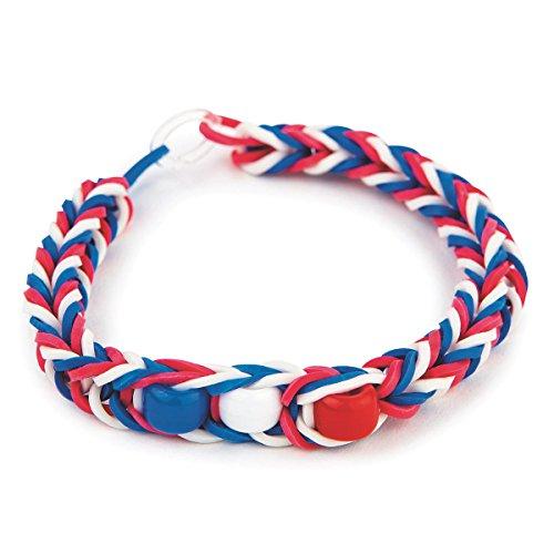 S&S Worldwide Patriotic Rubber Band Bracelet Craft Kit (makes 48)