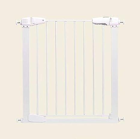 FMEZY Barrera de presión para bebés, Escalera, Puerta de Mascota, Separador de habitación portátil para niños, Altura 76 cm, Extensiones de 77 – 87 cm: Amazon.es ...