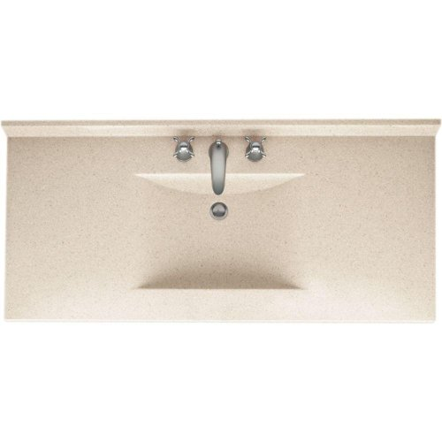 50%OFF Swanstone CV2249-046 Contour 49-Inch Solid Surface Vanity Top with Almond Galaxy Basin