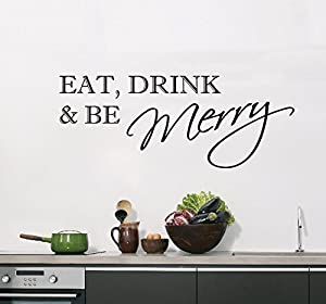 Wall Art Desire® Eat Drink U0026 Be Merry Kitchen Wall Art Sticker Decal 24  Colours To Choose Part 66