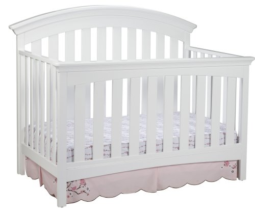Grow Sleigh Crib (Delta Children Bentley 4 in 1 Crib, White)