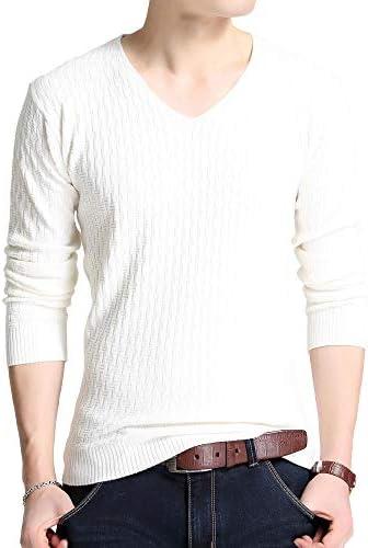 カットソー Tシャツ ロンT Vネック 長袖 インナー シンプル カジュアル トップス メンズ