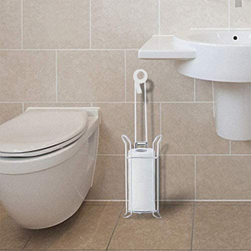 Toilet Paper Holder, Free Standing Toilet Paper Holder Stand, Stainless Steel Toilet Paper Stand and Dispenser, Toilet Paper Roll Holder Stand for three Rolls, Toilet Tissue Holder for Bathroom