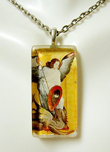 Archangel Michael glass pendant - ()
