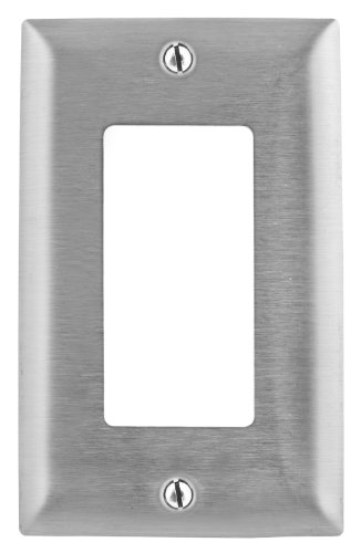 - Bryant Electric SS26 1-Gang 1 Decorator/GFCI Opening 302/304 Metallic Wall Plate, Stainless Steel, With Removable White Protective Film