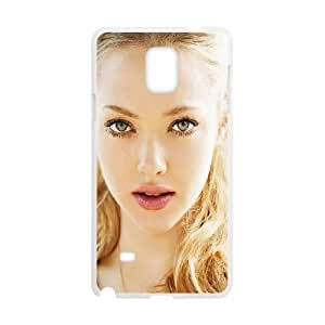 Samsung Galaxy Note 4 Cell Phone Case White_Amanda Seyfried Lights Face Film Apfgh