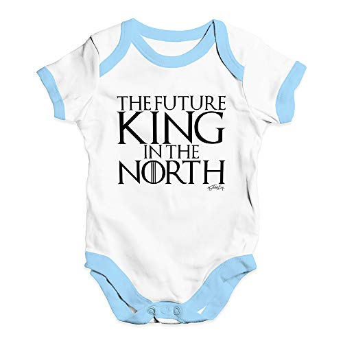 Twisted Envy Funny Baby Grow Onesie The Future King In The North Game Of Thrones White Blue Trim 12-18 Months (The King In The North Game Of Thrones)