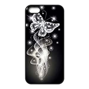Butterfly Diamond CUSTOM for Case For Sam Sung Galaxy S4 I9500 Cover LMc-85154 at LaiMc