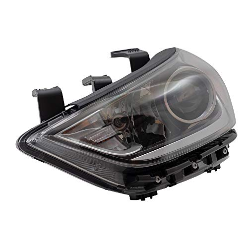 BROCK Headlight Assembly Replacement for 2017-2018 Hyundai Elantra Sedan Drivers Halogen Headlamp w/Daytime Running Lights 92101F3010 92101-F3010 ()