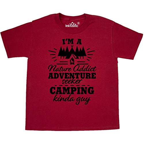 inktastic - I'm a Nature Addict Youth T-Shirt Youth Small (6-8) Red 36360
