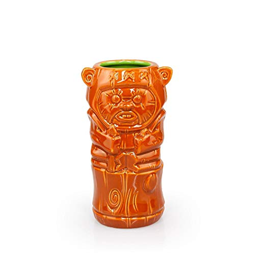 Geeki Tikis Star Wars Wicket Ewok Mug | Official Star Wars Collectible Tiki Style Ceramic Cup | Holds 14 Ounces