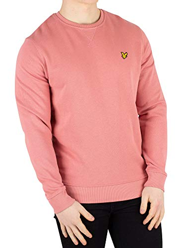 (Lyle & Scott Crew Neck Sweater Medium Pink Shadow)