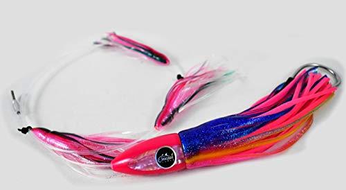 "SOLID PINK LOT OF 5 3D SQUIRT SQUID FISHING LURE 11/"" TUNA MARLIN MAHI MAHI"