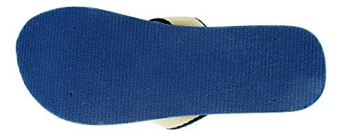 Sandalo Zeppa Infradito Con Zeppa Leggera Evelyn 5 Donna In Blu E Arancione (blu Scuro, 10)