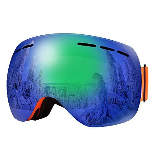 Bfull OTG Lunette de Ski, Lunettes d'anti-buée et Coupe-Vent pour Les Hommes,Les Femmes et Les Jeunes, Protection UV 400 et lentille d'anti-éblouissement.