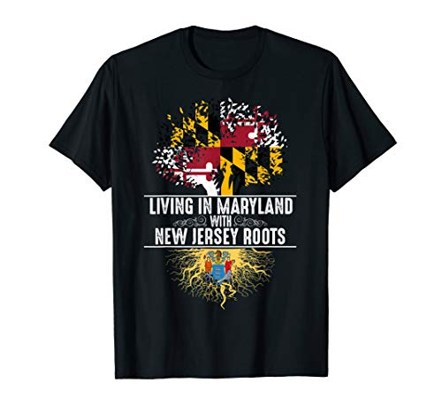 (Maryland Home New Jersey Roots State Tree Flag Shirt Gift)