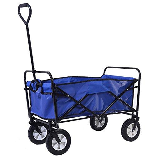 Garden Shopping Beach ,Sports Collapsible Folding Wagon Cart