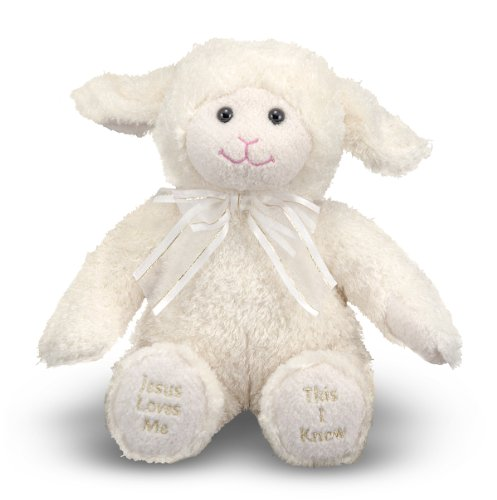 (Melissa & Doug Jesus Loves Me Lamb - Stuffed Animal With Sound Effects)