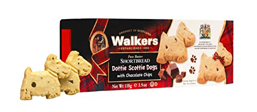 Walkers Shortbread Dottie Scottie, Traditional Pure Butter Shortbread Cookies with Chocolate Chips, 3.9 Ounce (Pack of 1)