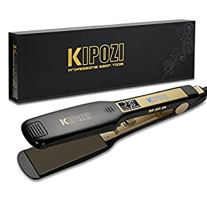 KIPOZI Professional Hair Straighteners Wide Plates Flat Iron with Digital...