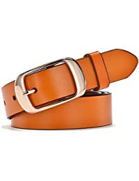 d9631933d60 Simplicity Leather Belts For Women Polished Buckle Plus Size XXXL