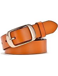 5ea6b8d40fce3 Simplicity Leather Belts For Women Polished Buckle Plus Size XXXL