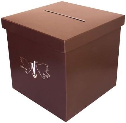 Unbekannt Dinero Caja, Caja de Regalo. Diseño Paloma en marrón Noble: Amazon.es: Juguetes y juegos