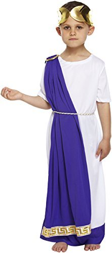 Boys Roman Emperor Fancy Dress Costume for Childrens