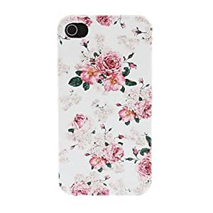 ZL Deluxe Peony Pattern PC Hard Case for iPhone 4/4S