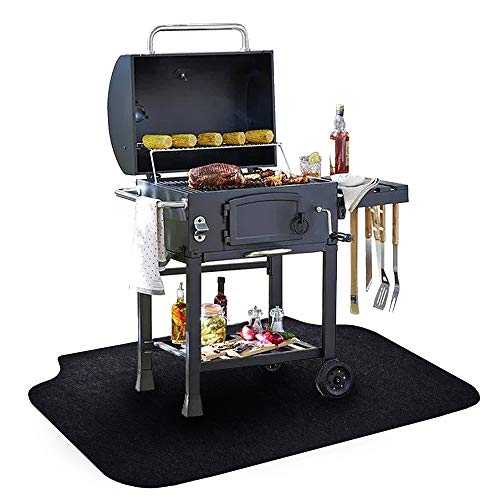 Under The Grill Mat, (36 x 60 inches) ,BBQ Grilling Gear Gas Electric Grill - Use This Absorbent Grill Pad Floor Mat to Protect Decks Patios from Grease Splatter and Other Messes