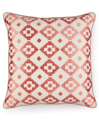 Martha Stewart Collection Red Rock Diamond Decorative Pillow, Coral: 20x20 (Pillows Decorative Macys)