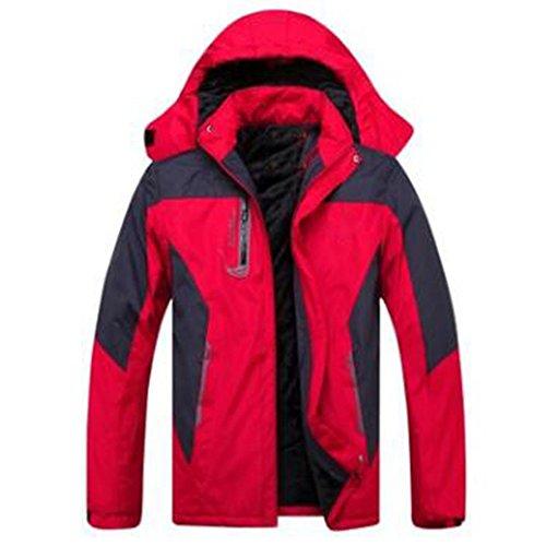 Lai Alpinismo Red Da Giacca Invernali Antivento Wu All'aperto Equitazione Per Giacche BWcdyqF